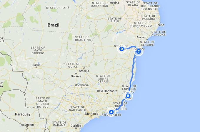 Brazil Route