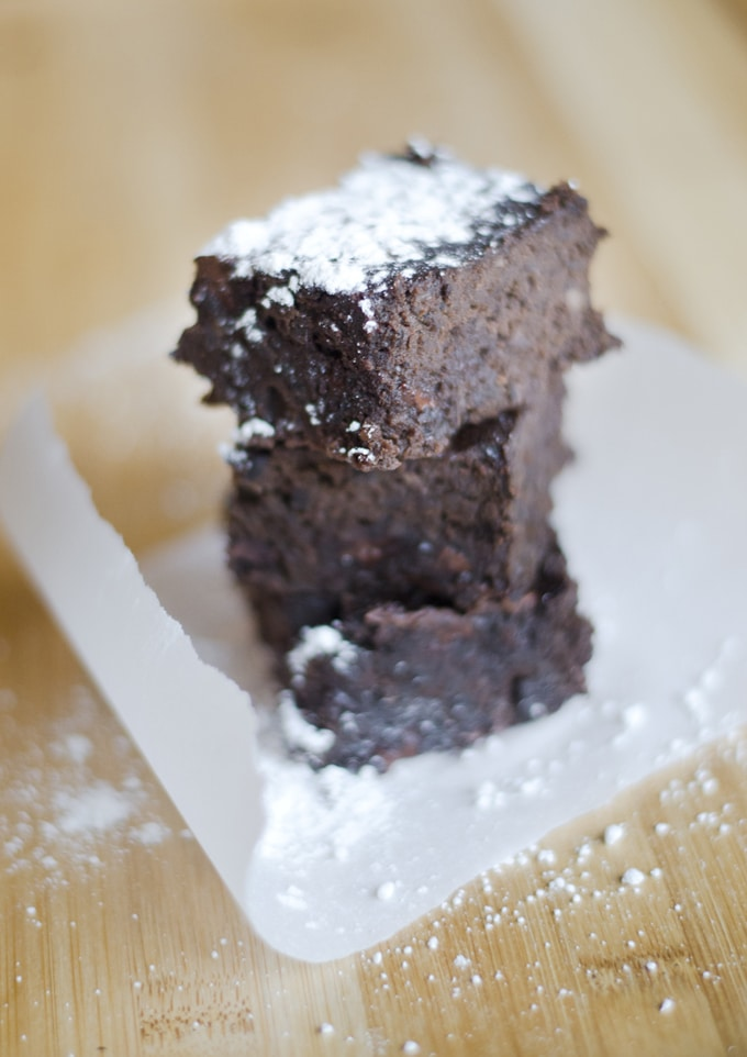 These Fudgy Black Bean Brownies are a decadent gluten-free dessert (and no one will ever guess that they're packed with fiber-filled black beans!