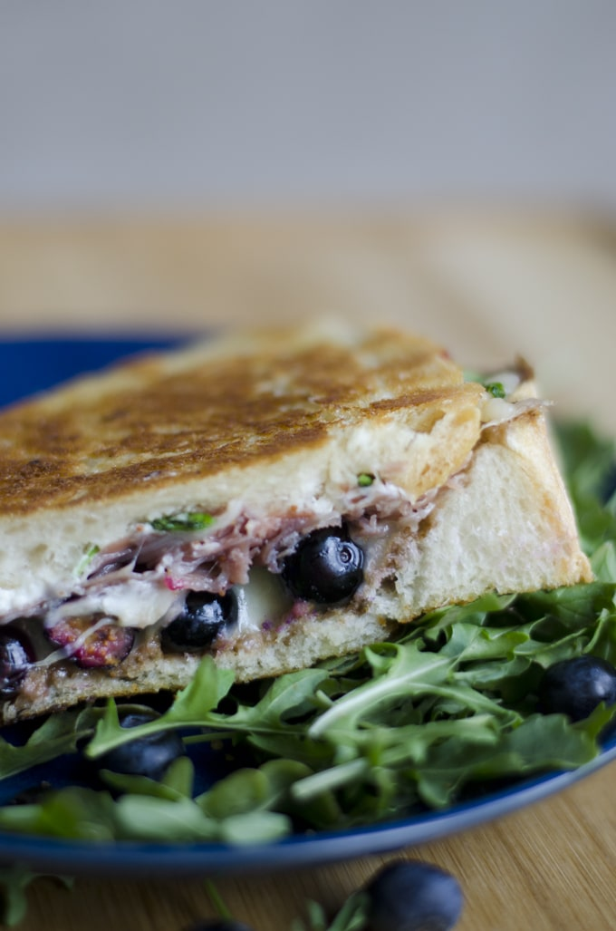 Blueberry Week: Blueberry Balsamic Grilled Cheese