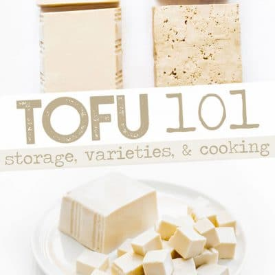 Photo of tofu on white background