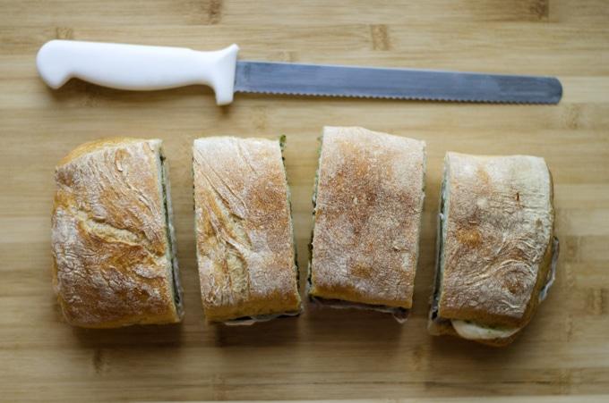 Pressed Eggplant Sandwich - Live Eat Learn