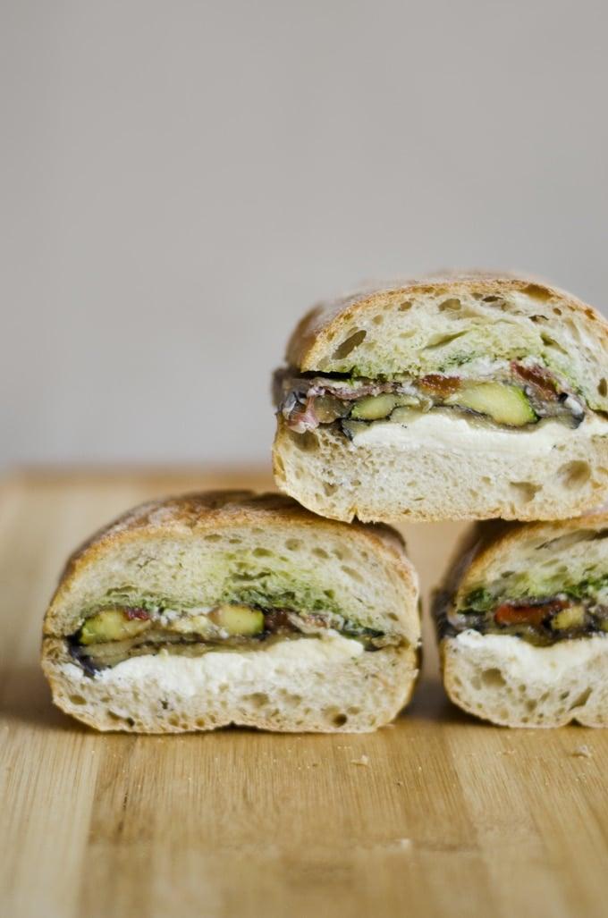 Pressed Eggplant Sandwiches