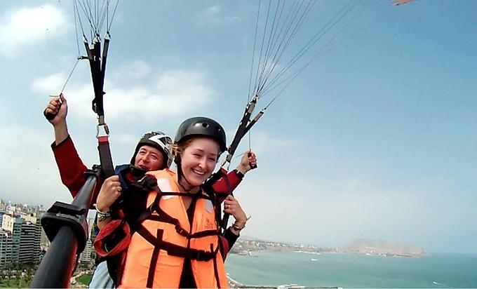 Lima, Peru Paraglide