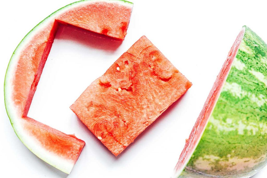 How to cut a watermelon steak rectangle