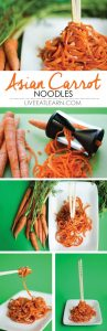 Asian carrot noodles. Perfect for a low-carb stir fry