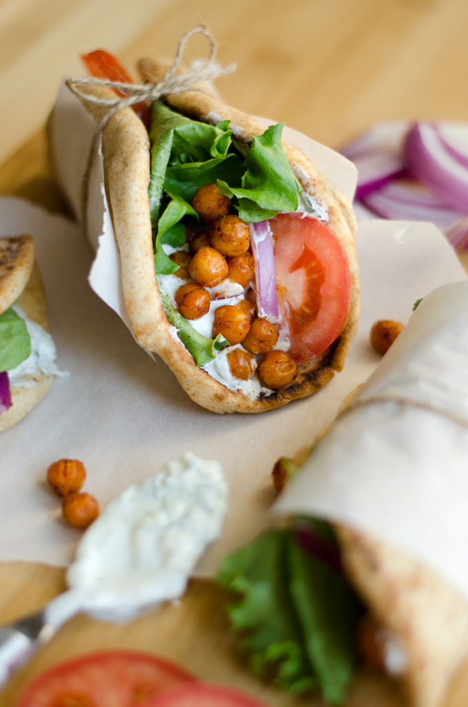 Vegetarian roasted chickpea gyros under 30 minutes roasted chickpea gyros forumfinder Choice Image
