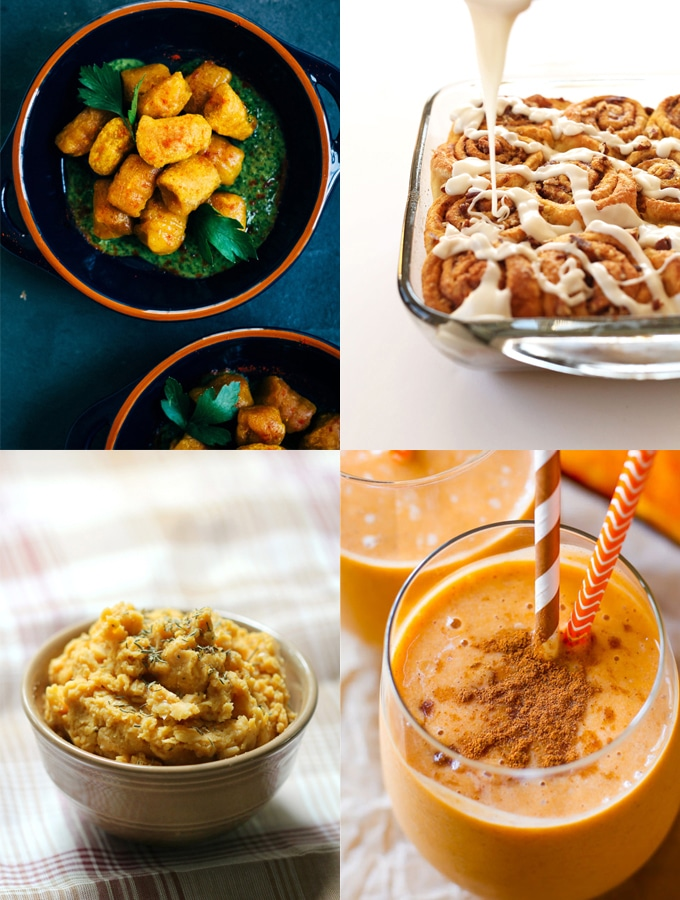 Nine vegan pumpkin recipes to try this fall that are perfect for breakfast, lunch, or dinner, because pumpkin is great for so much more than just pie.