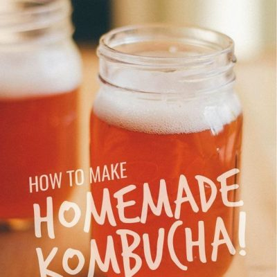 A complete guide on how to make homemade kombucha, all the way from the SCOBY to the fruity fermenting flavors! You just need tea, sugar, and a bottle of store-bought kombucha to get started. Homemade kombucha is such and easy, healthy, and delicious drink to make. #fermenting #homemade #kombucha