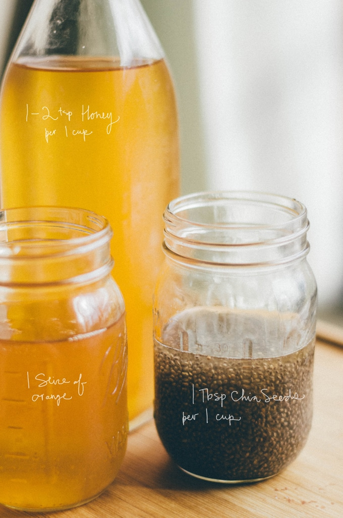 How to make homemade kombucha recipe flavored with kombucha flip top bottle and mason jars