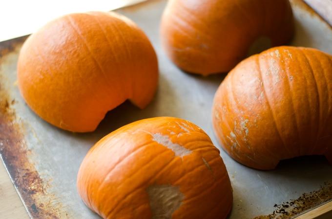 Pumpkin Soup with Smoky Roasted Chickpeas