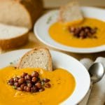 Pumpkin Soup with Smoky Roasted Chickpeas