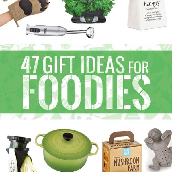 Healthy food lovers, aspiring chefs, food bloggers...here are 47 gift ideas for foodies