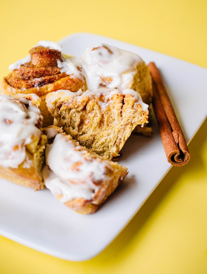 Whole Wheat Sweet Potato Cinnamon Rolls