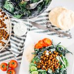 Chickpea Gyro Salad with Tzatziki Dressing