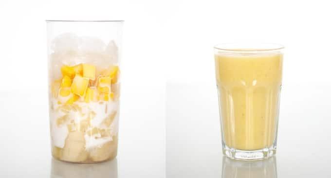 yellow smoothie