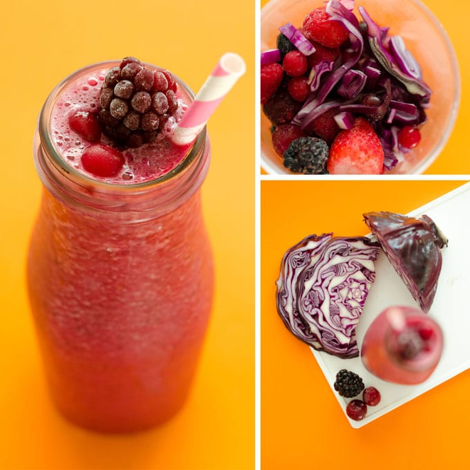 Berry Cabbage Smoothie