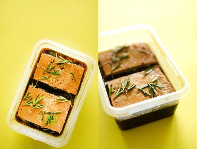 Rosemary Coffee Marinated Tofu