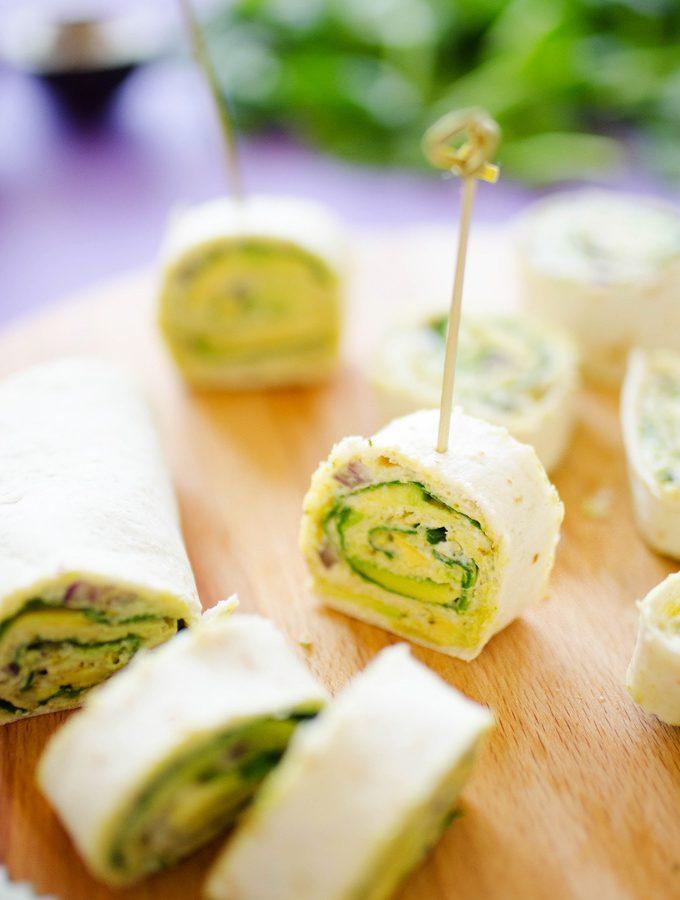 Avocado Pesto Pinwheels