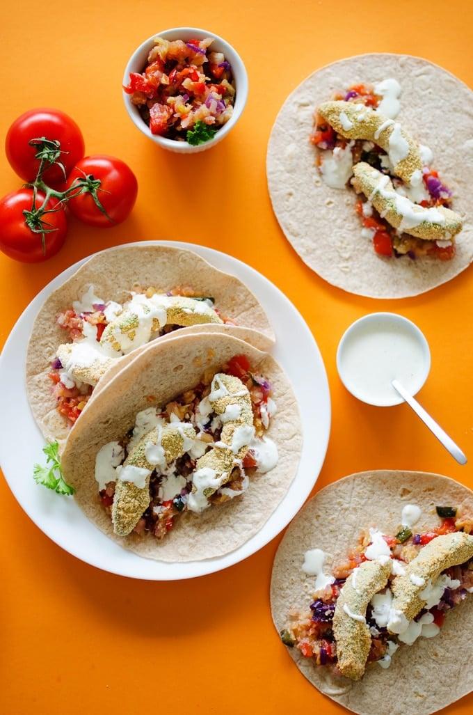 Crispy Baked Avocado Tacos