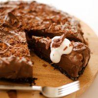 Vegan Avocado Chocolate Mousse Pie