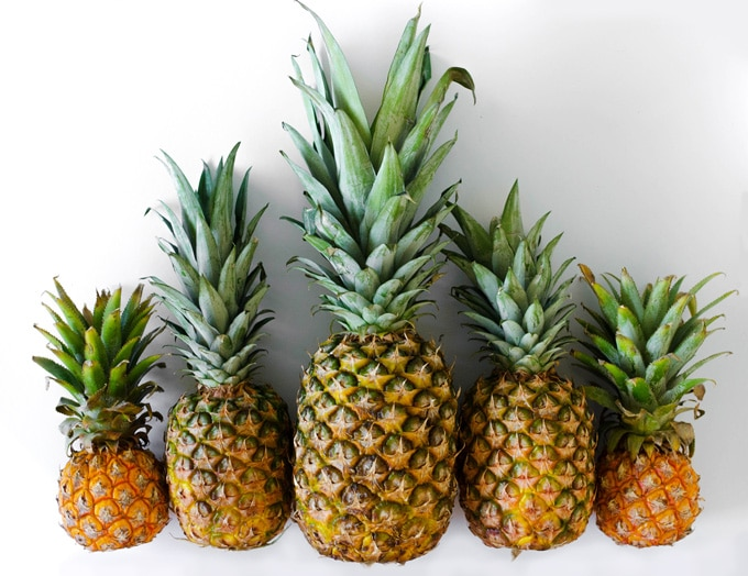 Picture of a pineapples on a white background