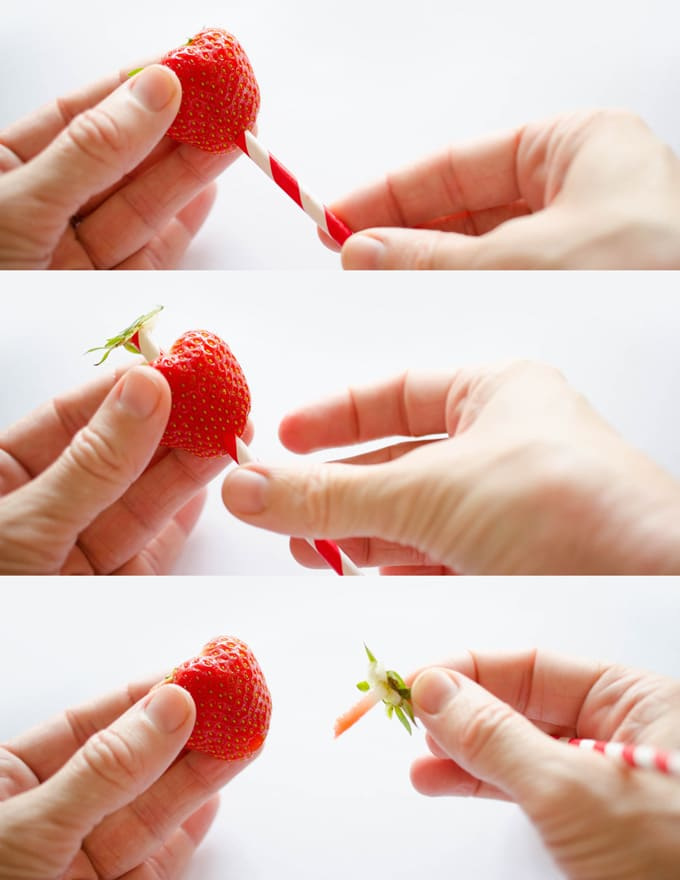 How to hull a strawberry with a straw