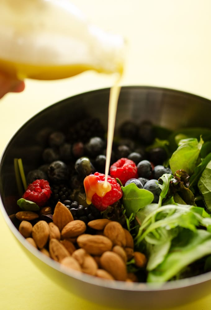 Berry Salad with Lavender Lemon Vinaigrette | Live Eat Learn