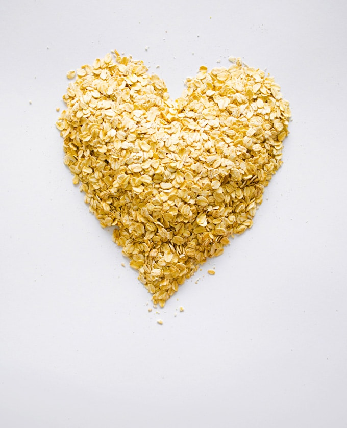 Oats in a heart shape