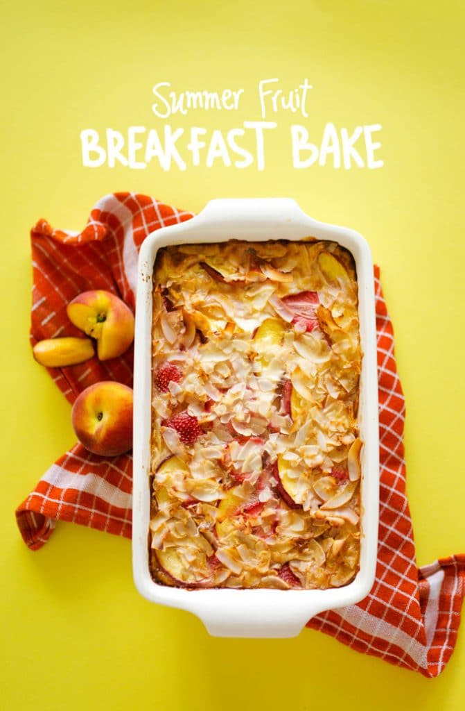 Packed with whole grains and fresh fruit, this Summer Fruit Quinoa Breakfast Bake requires minimal effort and leaves your home smelling delicious!