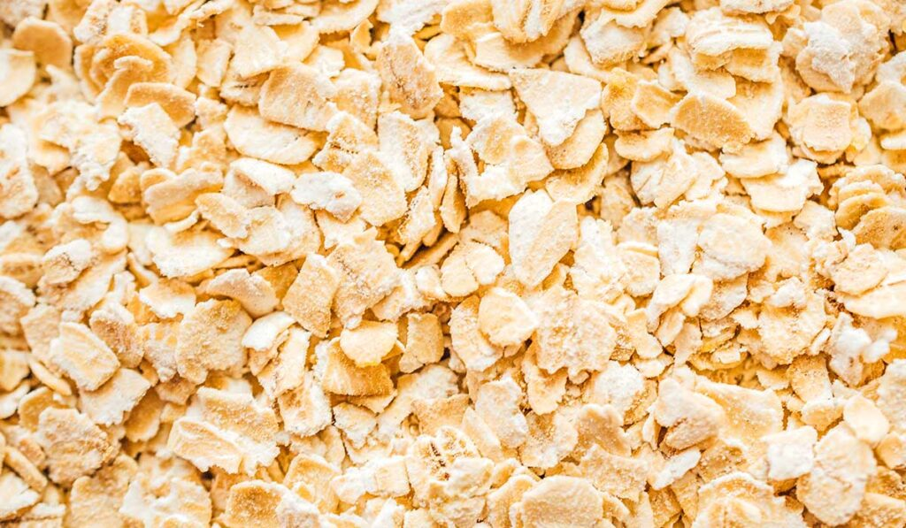 Instant oats close up photo