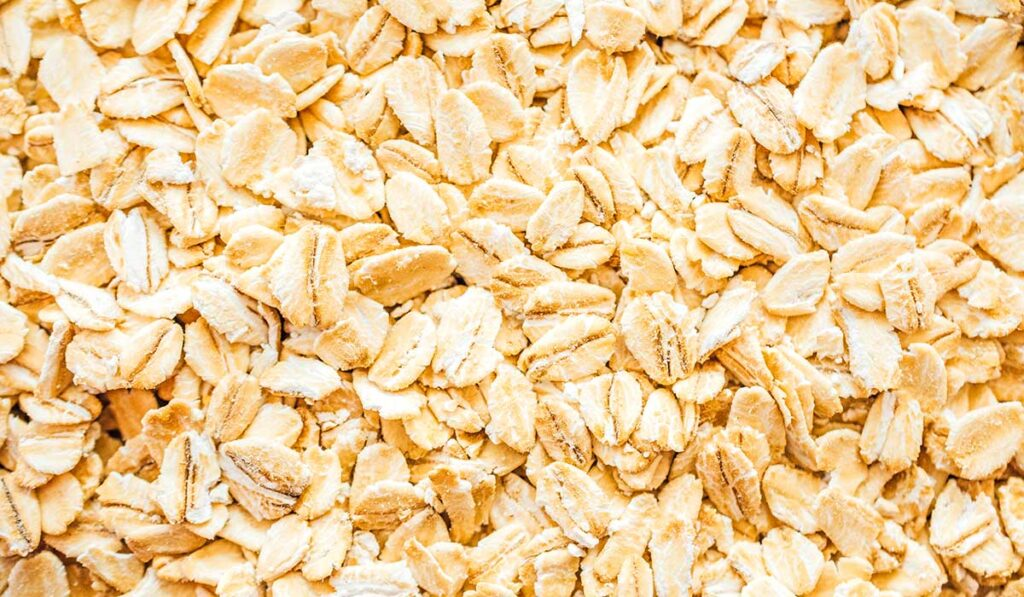 Rolled oats close up photo