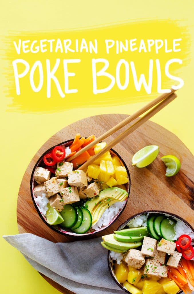 These Vegetarian Poke Bowls are a refreshing, meatless take on this wildly popular and ultra-refreshing Hawaiian dish, complete with marinated tofu!