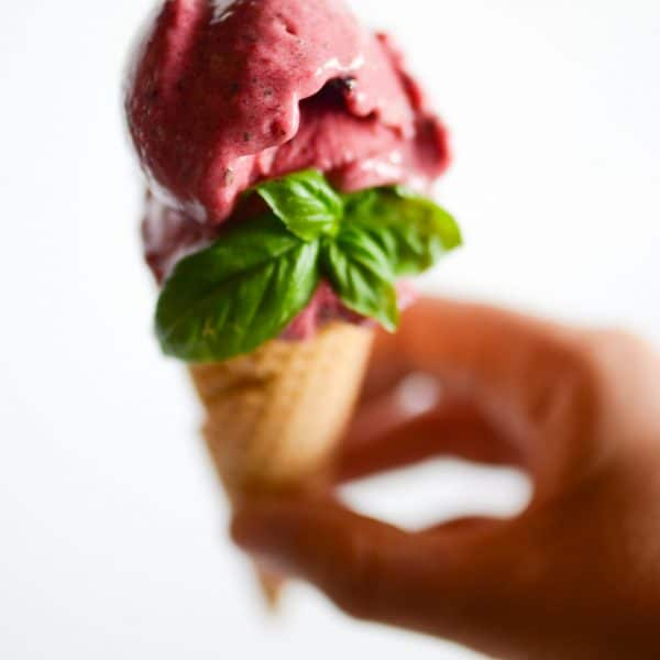 Blackberry Basil Nice Cream