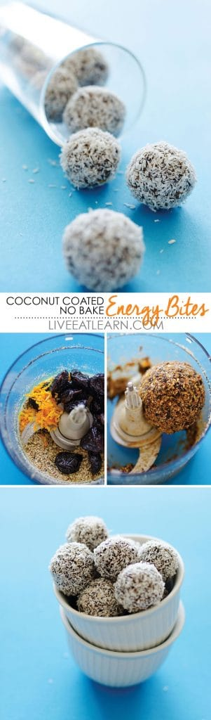Coconut Coated No Bake Energy Bites