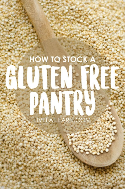 How to stock a healthy gluten-free pantry, from the dry good staples to the sauces and secret ingredients you'll need in your fridge. This guide also includes common ingredient substitutions, my favorite online resources, and of course, recipes!