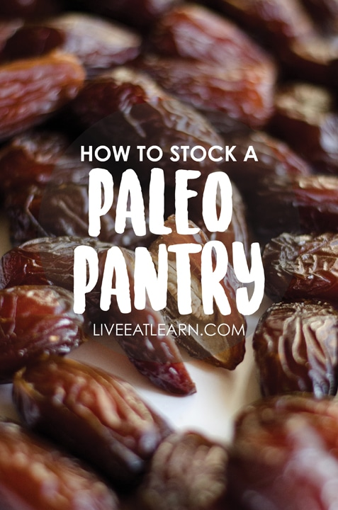 How to stock a healthy paleo/caveman pantry, from the dry good staples to the sauces and secret ingredients you'll need in your fridge. This guide also includes common ingredient substitutions, my favorite online resources, and of course, recipes!