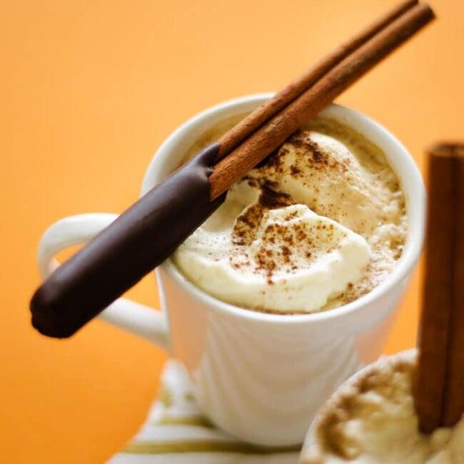 Chocolate-Coated Cinnamon Stick Coffee Stirrers