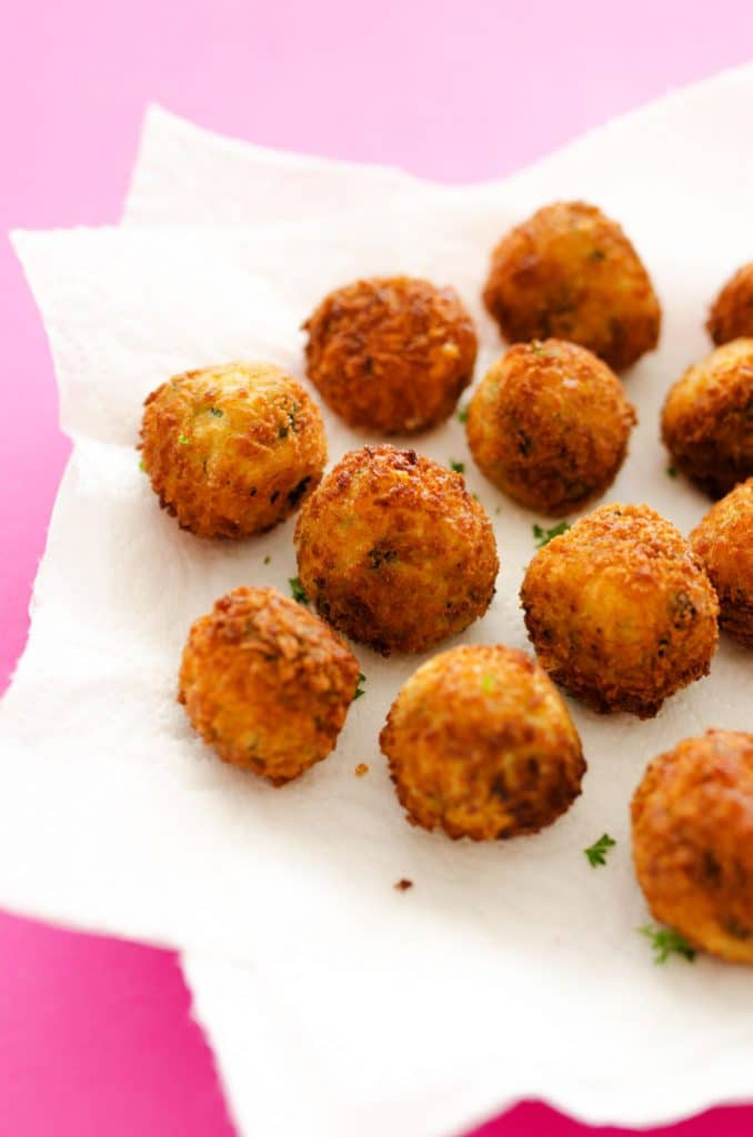 Spinach and Mashed Potato Croquettes