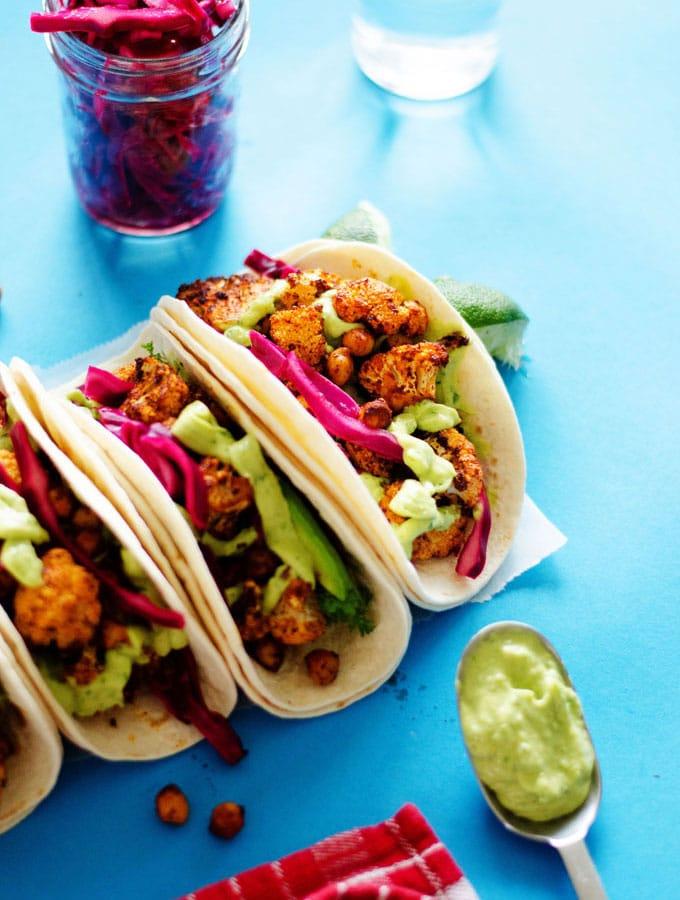 12. Roasted Cauliflower Street Tacos