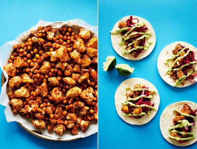 Roasted Cauliflower Street Tacos