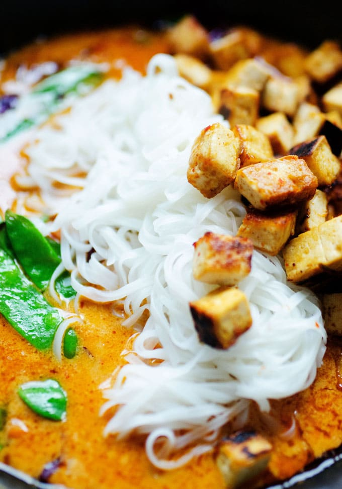 Close up photo of Coconut Curry recipe