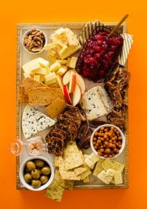 Your guide to the ultimate vegetarian cheese board. From the crunchies to the savories and everything in between, it's really as easy as 1, 2, 3!