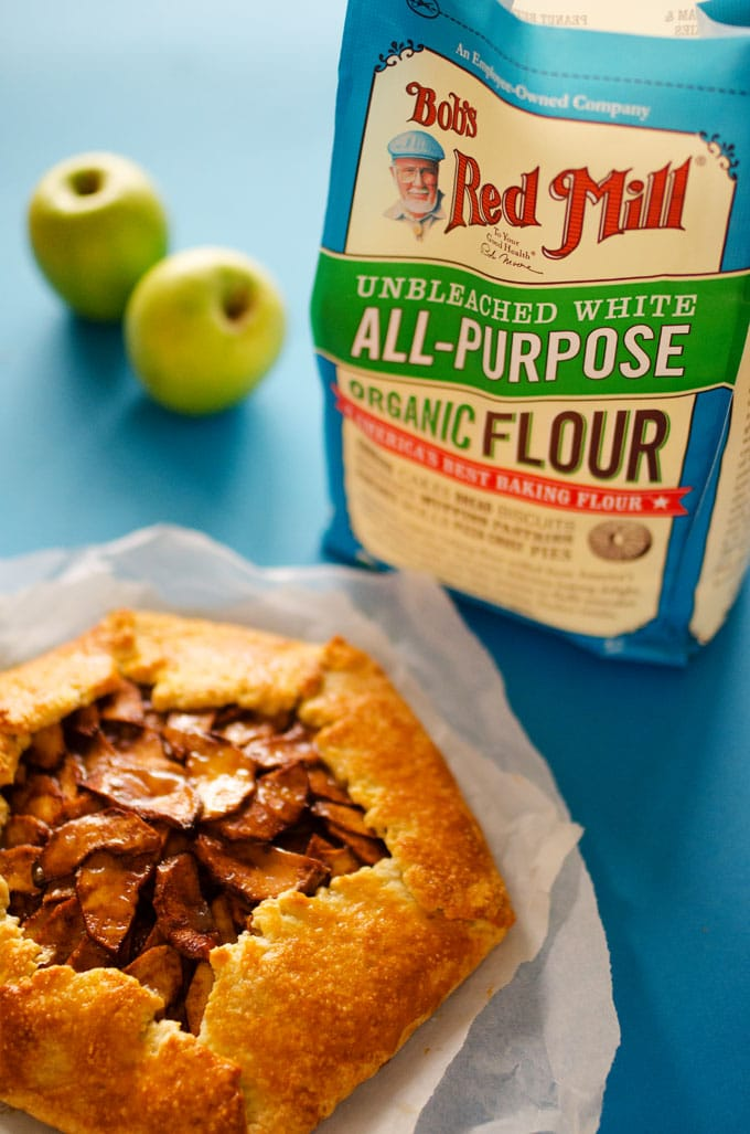 Easy Apple Galette with Salted Maple Caramel Drizzle