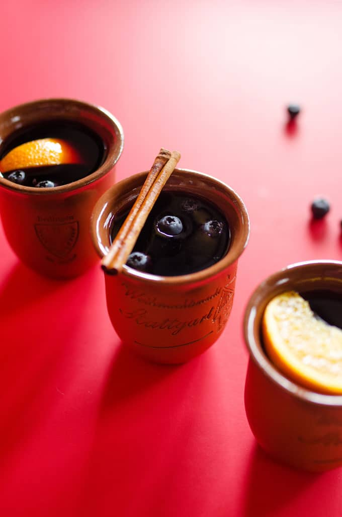 Blueberry Mulled Wine Glühwein Recipe