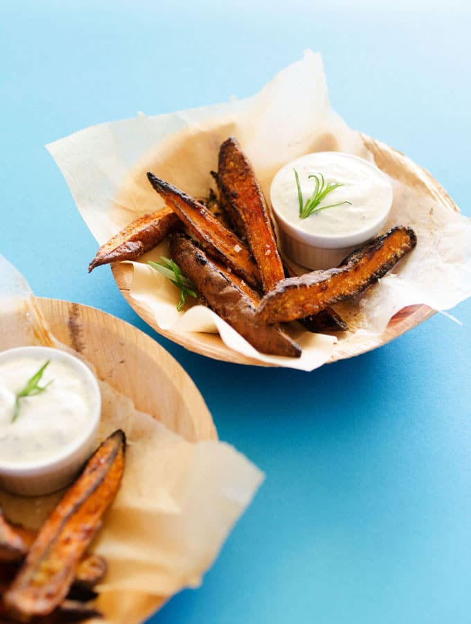 Oven Baked Sweet Potato Wedges That Are Actually Crispy