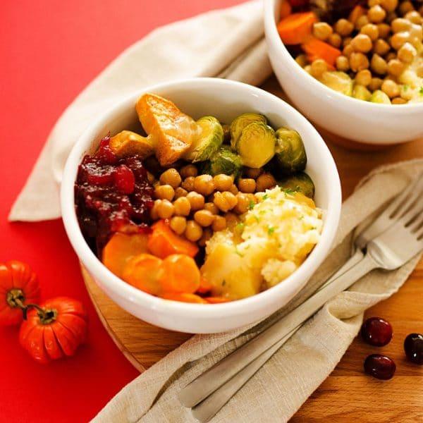 Vegan Thanksgiving Leftovers Bowls