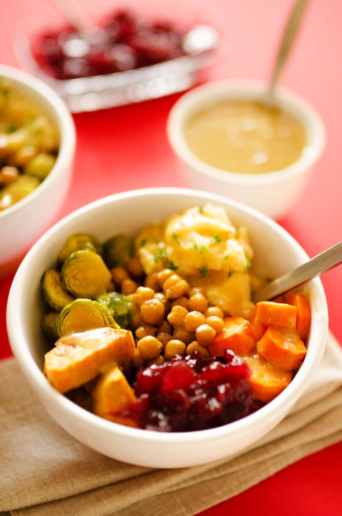 Vegan Thanksgiving Leftovers Bowls