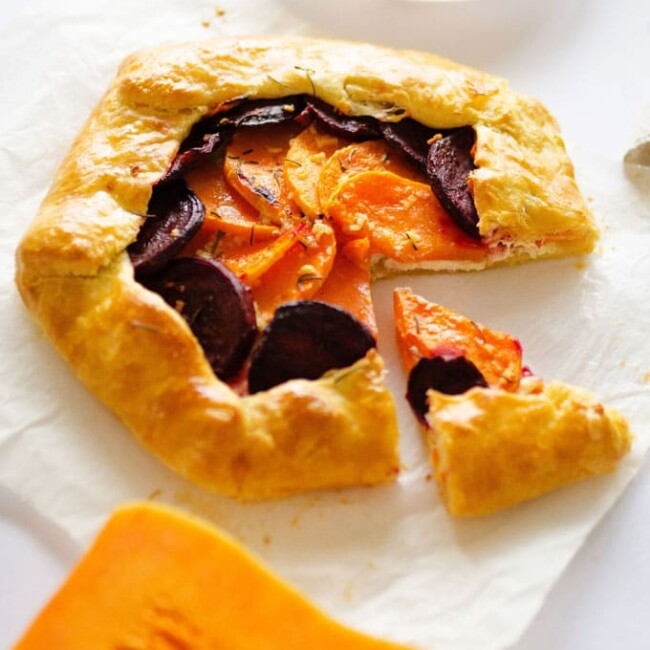 Butternut Beet and Ricotta Galette