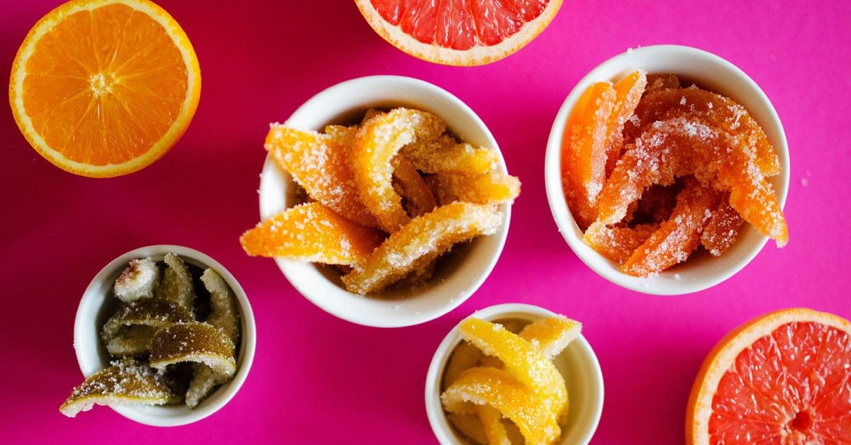 Rainbow Candied Citrus Peel