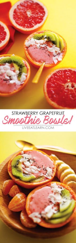 Strawberry Grapefruit Smoothie Bowl